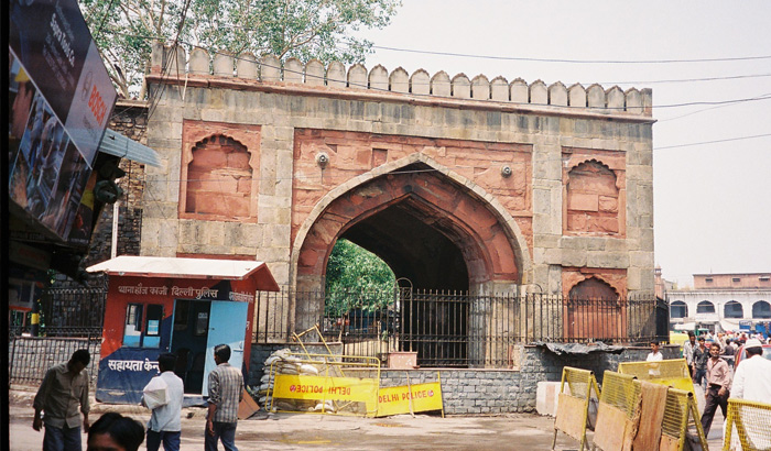 Ajmeri Gate,  the site of India's First War for Independence in 1857.